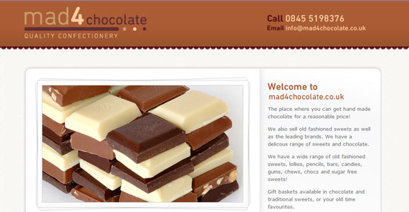 Mad4 Chocolate Website